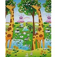 tapete didáctico doble vista (dinosaurios y jirafas) juego, colores