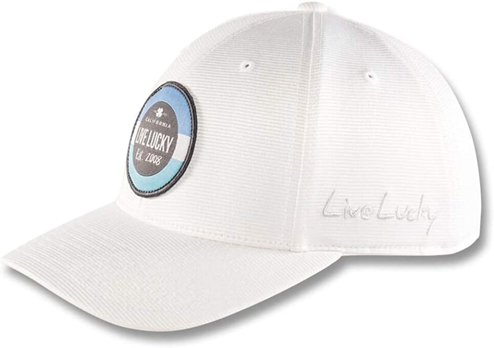 Black Clover New Live Lucky North Shore White Adjustable Snapback Hat//Cap