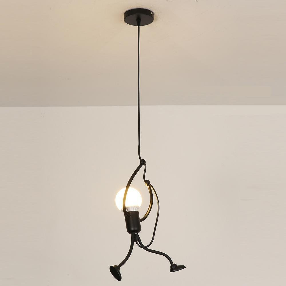 Awesome luminaire multi suspension colore enfant for Luminaire noir suspension