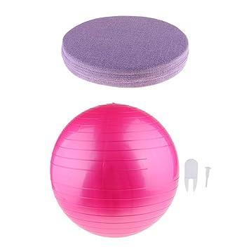 F Fityle Balón de Ejercicio Anti-Explosión y Duradero para Yoga + ...
