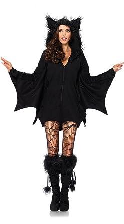 Amazon.com  PINSE Sexy Cozy Bat Fancy Dress scary halloween costumes ... a98ae1d96