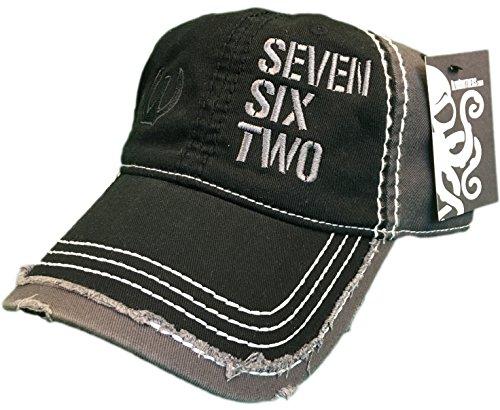 Seven Six Two Ak-47 Hat / cap Black / Grey Distressed 7.62 Rifle