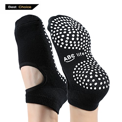 ABC life Yoga Socks Silicone Non slip Skid Grip Cotton for Women/Men/Girls