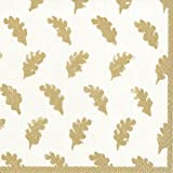 thanksgiving decorating ideas Cocktail Napkins Party Supplies Entertaining Fall Wedding Fall Decorating Ideas Leaves Gold Pk 40