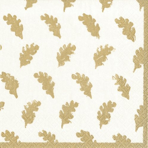 Cocktail Napkins Party Supplies Entertaining Fall Wedding Fall Decorating Ideas Leaves Gold Pk -