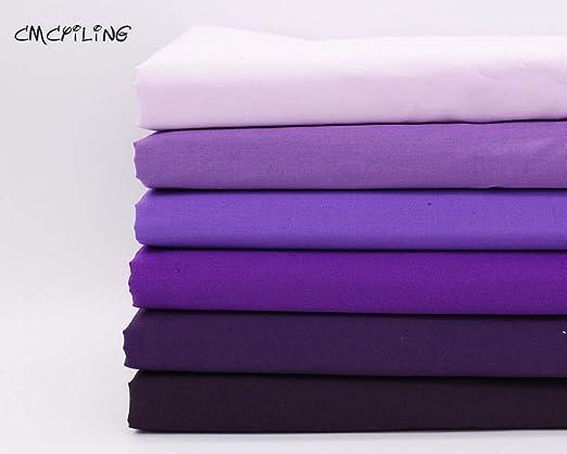IDEA HIGH Tela de algodón de Color Morado de IDA para Costura, Tejido, retales de algodón, Tela Tejida para el hogar, Tela, retales de Tela Gruesos, Color 1, 150 cm x 145
