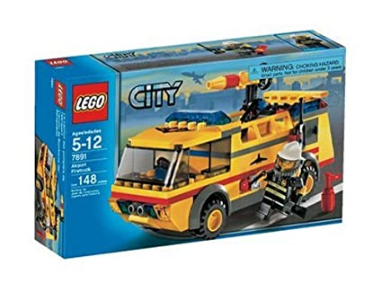 Amazoncom Lego City Airport Fire Truck Toys Games