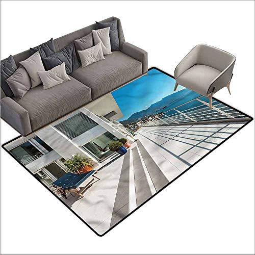 (Anti-Slip Coffee Table Floor Mats White,Penthouse Summer Home Photo 60