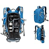 Beaspire DSLR Camera Backpack Sling Travel Photography Bag for Canon Nikon Sony Olympus Panasonic Pentax Camera Tripod and Digital Accessories Man and Woman(Blue)