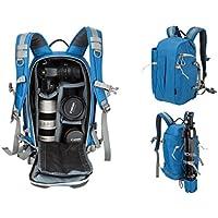 Beaspire DSLR Camera Photography Backpack Travel Hiking Professional Camera Bag Canon Nikon Sony Olympus Panasonic Pentax Camera Tripod Digital Accessories Man Woman(Blue)