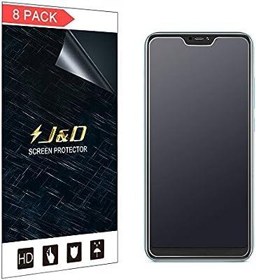 J&D Compatible para 8-Pack Protector de Pantalla para Redmi 6 Pro ...