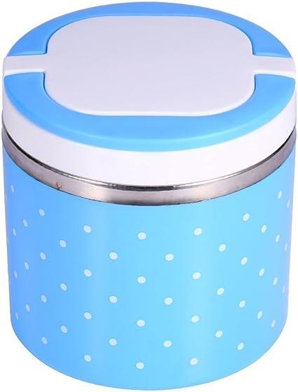 zjchao Fiambrera Caja de Almuerzo de Bento T/érmica con Aislamiento T/érmico de Acero Inoxidable 1-3 Capas de Contenedores de Alimentos a Prueba de Fugas para Ni/ños Adulto
