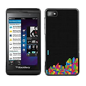 KOKO CASE / Blackberry Z10 / tetris gaming computer retro vintage art colors / Slim Black Plastic Case Cover Shell Armor