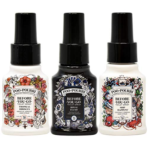 Poo-Pourri Ship Happens, Tropical Hibiscus, Royal Flush, 1.4 Ounce Set