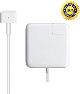 Mac Book Pro Charger, AC 60W Magsafe 2 T-Tip Power Adapter Charger Replacement for MacBook Pro 13 Inch (for MacBook Pro Released After 2012)