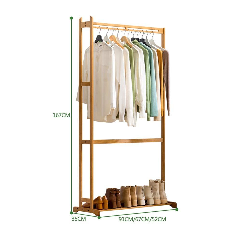 Eingang Hall Coat Rack Organizer Holz Mehrzweck Lagerung Schuh Stand Mit Top Rod F/ür Home Office Flur Schlafzimmer Farbe : Photo Color, Gr/ö/ße : S