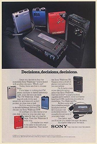 1982 Sony Walkman Five Models FM 70W II R2 Pro Decisions Pri