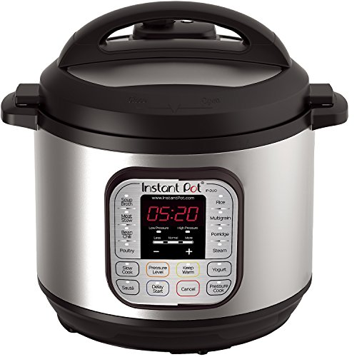Instant Pot IP-DUO80 7-in-1 Programmable Pressure Cooker, 8Qt/1200W, Latest 3rd Generation Technology, Stainless Steel Cooking Pot and Exterior]()
