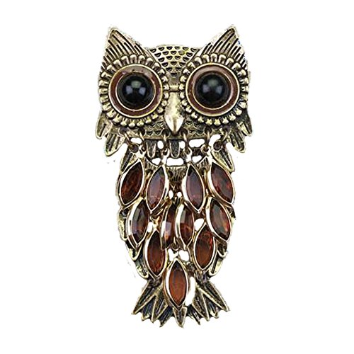 Seasons Jewelry Magnetic Clasp Silver-Plated Pendant (Vintage Owl Pin/Pendant)