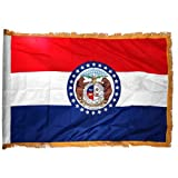 Online Stores Missouri Nylon Flag with Indoor Pole Hem and Fringe, 3 by 5-Feet