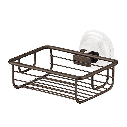 InterDesign Classico Suction Bathroom Shower Caddy Shelves for Shampoo, Conditioner, Soap.