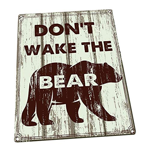 Don't Wake the Bear Metal Sign, Rustic, Cabin, Home Décor
