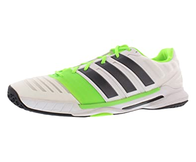 the latest 0d0ce e0c6f Amazon.com  adidas Adipower Stabil II Handball Mens Shoes Size 14  WhiteGreen  Fashion Sneakers