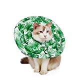 ZPEM Protective Inflatable Collar Button Design for Postoperative Pets Dogs Beauty Protection Adjustable Soft Pet Recovery E-Collar Does Not Block Vision,XL