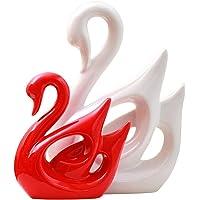 Ceramica Statuetta a Forma di Cigno, Decorazione Domestica Famiglia, Statuetta Cigno in Porcellana, Stile Moderno e Elementi Decorativi Creativi