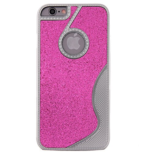 Purple Iphone 6 4.7 Case, Iphone 6 Metal Case, New Ultra-thin Twinkling Glitter S Curve Type Luxury Aluminum Metal Case Cover for Iphone 6 4.7'' Shockproof Dustproof Full Angle Protected Metallic Case Cover