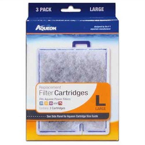 Aqueon 06087 Filter Cartridge, Large, 3-Pack