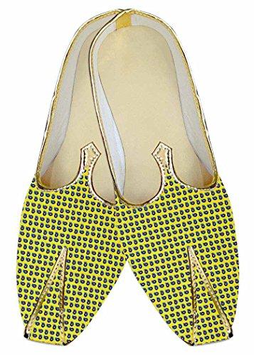 Zapatos MJ014440 Amarillo Paisley Impresa Boda INMONARCH Hombres Avwpggq