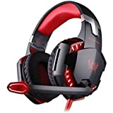 KOTION EACH Cuffie da Gioco Cuffia Gaming a Padiglione con Microfono Stereo Bass LED Luce Regolatore di Volume per PC ...