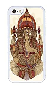 linJUN FENGApple Iphone 5C Case,WENJORS Cute Ganesha Lord of Success Soft Case Protective Shell Cell Phone Cover For Apple Iphone 5C - TPU White