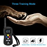 PATPET-Stimulation-Training-Collar-Waterproof-3-Modes-16-Levels-Vibration-Shock-Tone-Available-for-300M984FT-400M1312FT-600M1969FT-Remote-Range