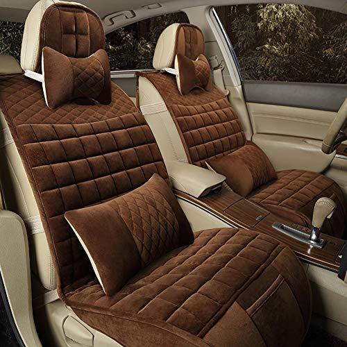 JT Car Seat Cushion Winter Short Plush Comfort Warm Seats Cover Universal,Brown,Interchangeable: Sports & Outdoors