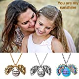 Sunflower Necklace for Women Girls You are My