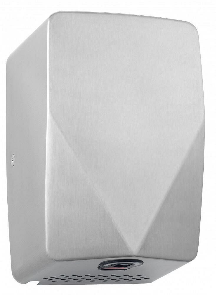 Turboforce® Junior MKII Hand Dryer (brushed satin) TFJM02 Great For Light use (51 to 100 uses per day), limited space washrooms, Office, Primary school (Key stage 2), Restaurant, Senior school (key stage 3), Pubs, Blade Style, Commercial, Fast Dryflow