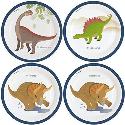8 Platos * Dinosaurios Frescos * para cumpleaños Infantiles ...