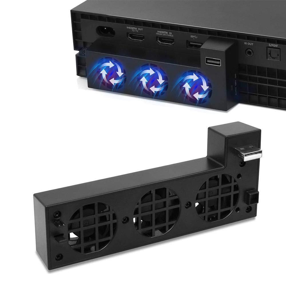Ventola Raffreddamento per Xbox One con 3 Ventole di Raffreddamento E 2, 0 Porta USB Supporto per Ventilatore Leegoal