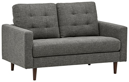 Rivet Cove Mid-Century Tufted Loveseat, 56