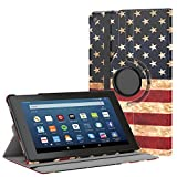 us amazon - MoKo Case for All-New Fire HD 8 2017 / Fire HD 8 2016 - 360 Degree Rotating Cover with Auto Wake / Sleep for Amazon Fire HD 8 (7th Gen, 2017 / 6th Gen, 2016) 8