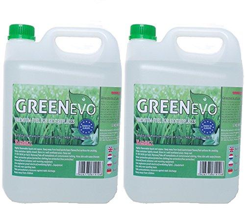 GreenEvo 2 X 5L BIO FUEL, BIO ETHANOL LIQUID FIRE