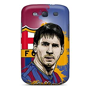 UPXir4602nhnTH Case Cover Protector For Galaxy S3 Soccer Lionel Messi Fc Barcelona Case