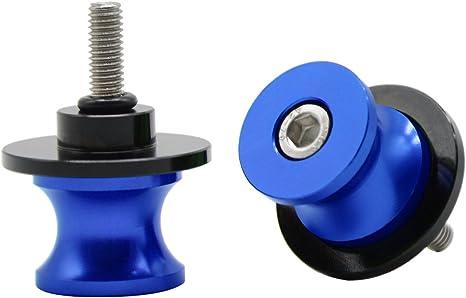 Racing Ständeraufnahmen Bobbins M6 x 1 mm blau Motorrad Montageständer Aufnahme