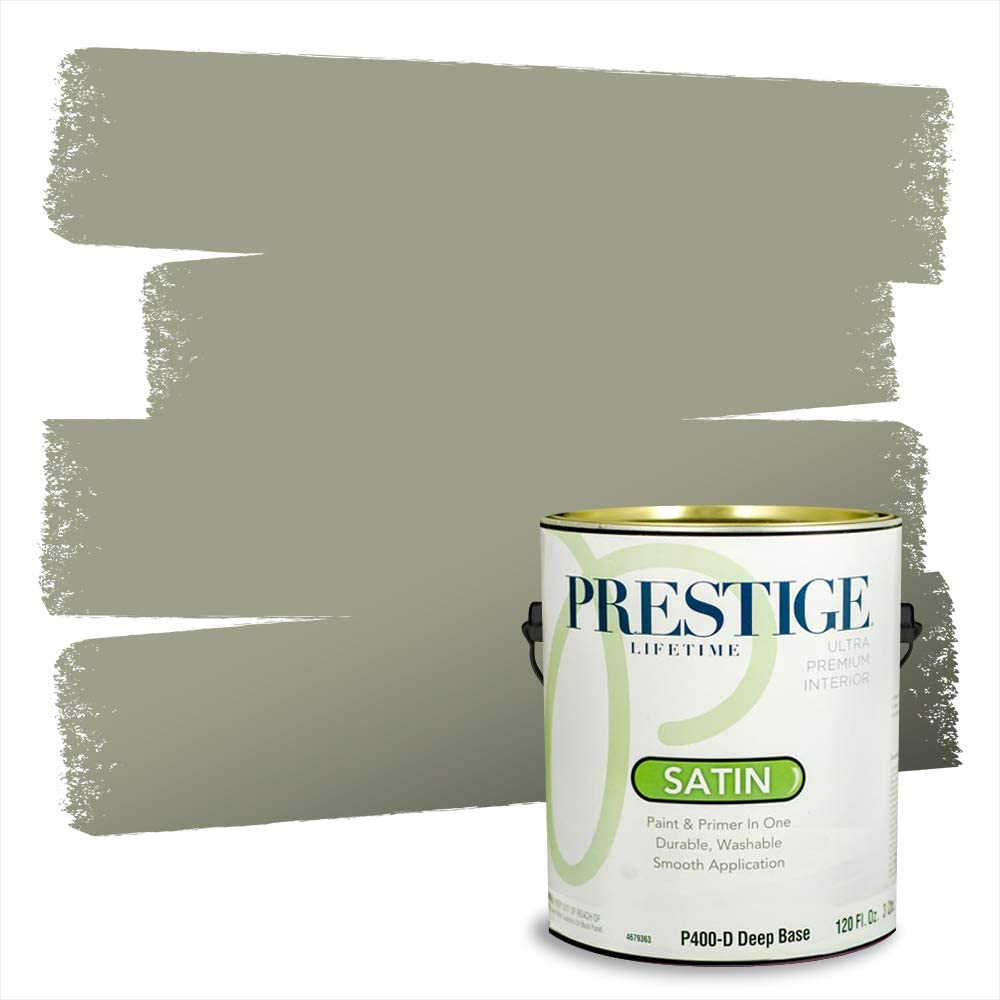 Amazon Com Prestige Paints Interior Paint And Primer In One 1 Gallon Satin Comparable Match Of Benjamin Moore Louisburg Green Home Improvement