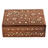 Rusticity Wood Jewelry Box Organizer Decorative | Handmade | (7×5 in) For Sale