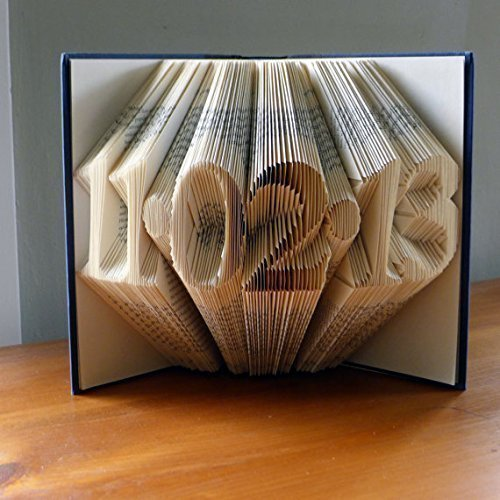 NiCe Folded Book Art - Amazing Gift - Boyfriend - Girlfriend - Wedding - Anniversary - Birthday - Any Special Date