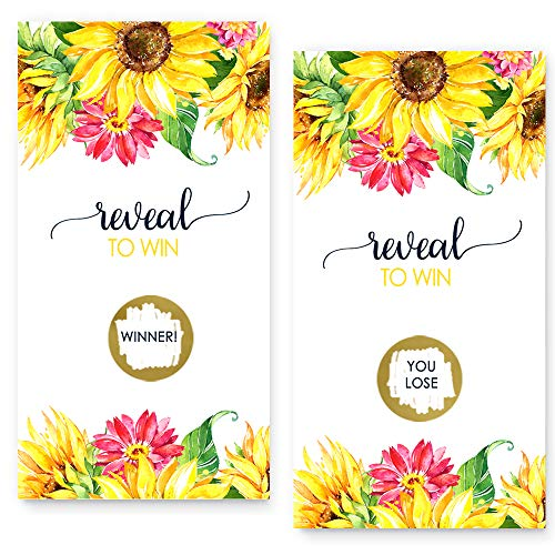 Bright Floral Scratch Off Game Cards (28