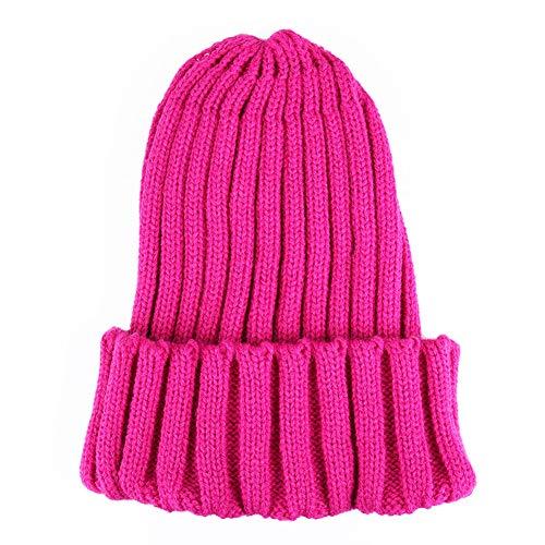 Caramelo rosered WGFGQX Fluorescente Sombrero Unisexo Cálido E Sombrero Tejido Invierno Otoño Lightpurple Color Z0Z7H